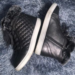 Steve Madden Fur Trim Hightops